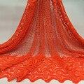 Новое прибытие африканские ткани шнурка высокого качества многоцветный шнур кружева, гипюр кружева ткань для платья партии Gary-31 бесплатно по DHL