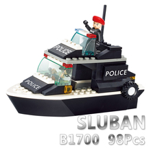 Sluban Model Building Compatible B1700 98pcs Kits Classic Toys Hobbies Patrol Boat