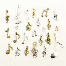 Charm Women Backless Dress Musical Note Supplies For Jewelry Materials Hand Made Charms(China)