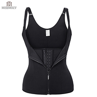 Miss Moly Adjustable Shoulder Strap Waist Trainer Cincher Vest Corset Women Zipper Hook Body Shaper Tummy
