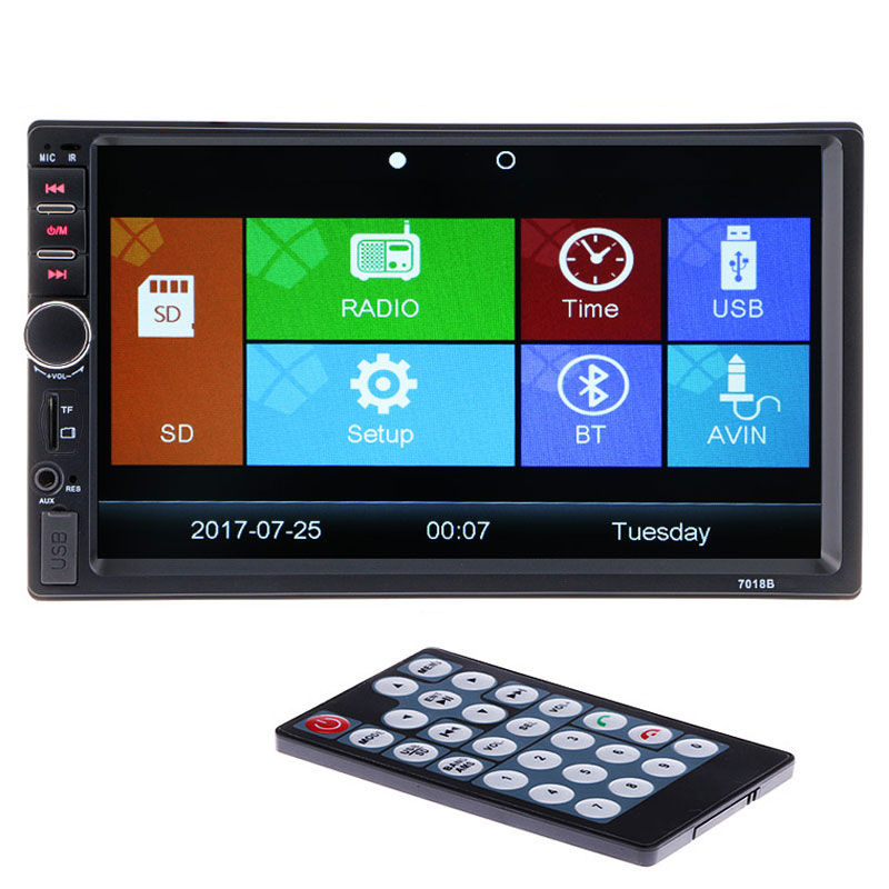 Hot 2 Din 12V Car Video Player Bluetooth Stereo Radio FM MP4 MP5 Audio USB AUX