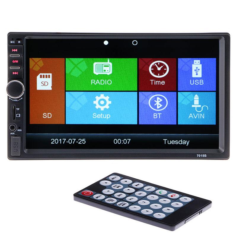 Hot 2 Din 12V Car Video Player Bluetooth Stereo Radio FM MP4 MP5 Audio USB AUX