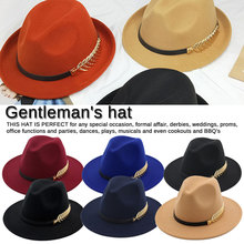 Special Felt Hat Men Fedora Hats with Belt Women Vintage Caps Wool  Warm Unique Jazz Hat  hat