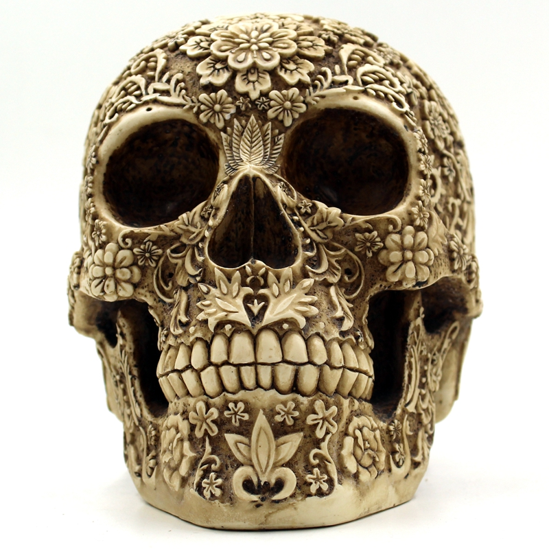 Halloween Home Bar Table Grade Dekorativa Hantverk Human Skull Resin - Semester och fester - Foto 6