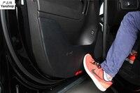 Free shipping Super fiber skin anti kick pad door protector Anti Dirt pad for VW Volkswagen 2011 2017 Touareg