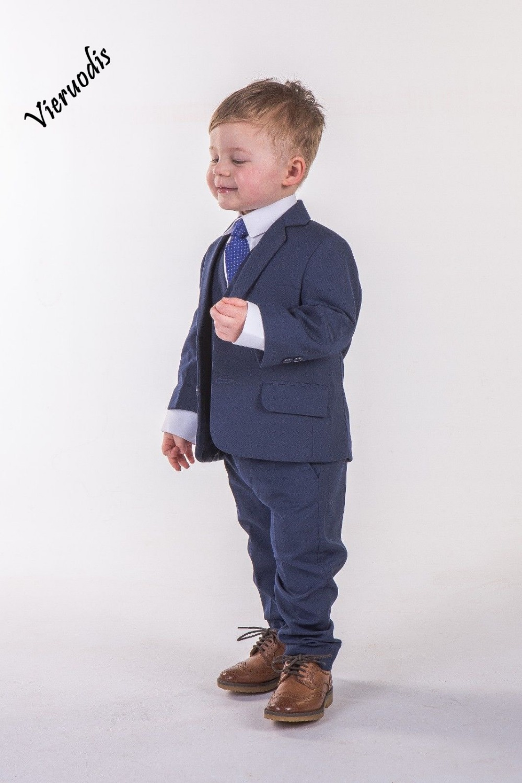 Stylish dark blue little boy suit 3 piece set with groomsmen flower girl suit in Boys 39 Attire from Weddings amp Events