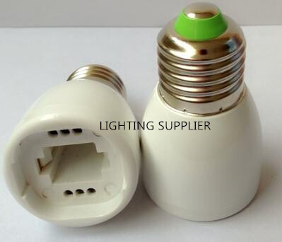 10PCS Free Shipping E27 To G24 Socket Converter Lamp Base Bulbs Halogen Light Socket Adapter E27 To G24