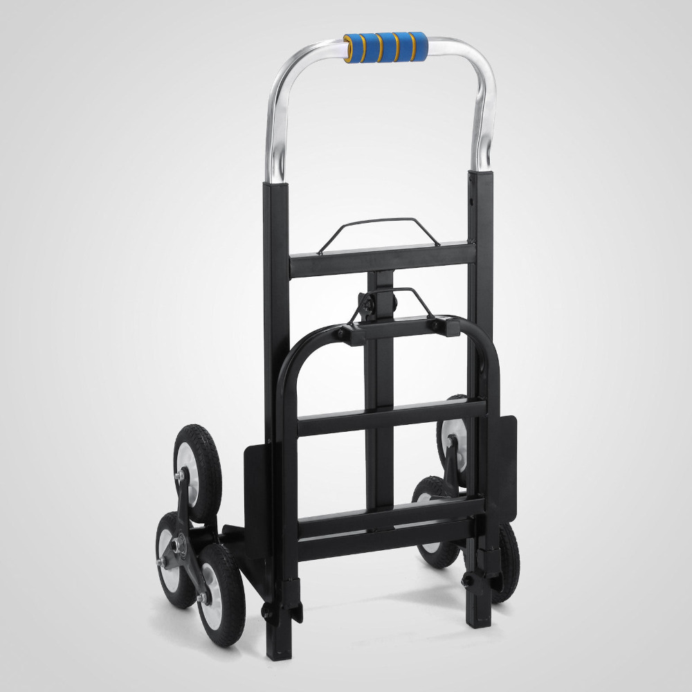 Carbon Steel Stair Climber Foldable Hand Truck Luggage Cart with Backup Wheels Climbing Equipment