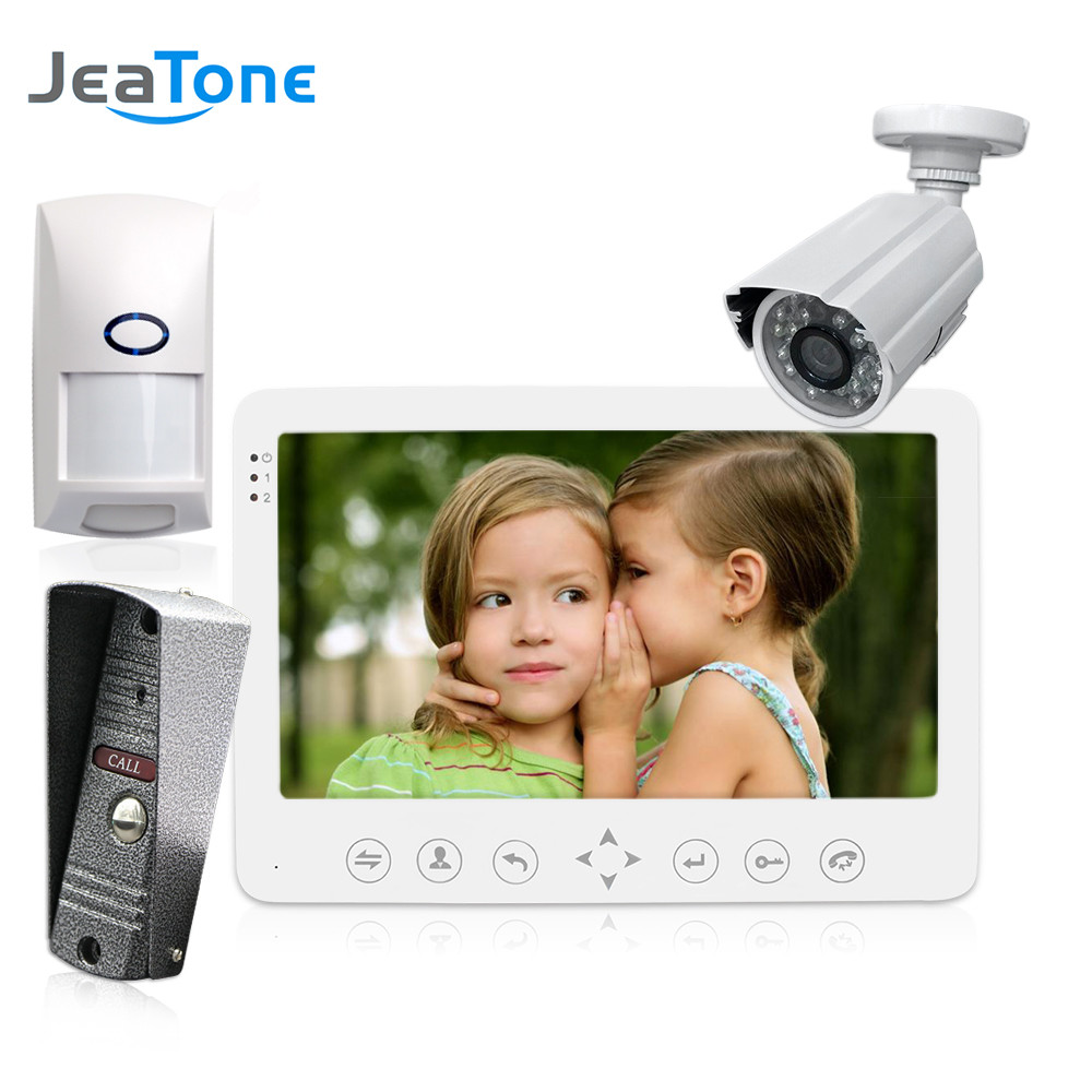 JeaTone 7 LCD Video Door Phone Intercom Doorbell + Analog Camera + PIR Alarm Home Security System Motion Detection SurveillanceJeaTone 7 LCD Video Door Phone Intercom Doorbell + Analog Camera + PIR Alarm Home Security System Motion Detection Surveillance