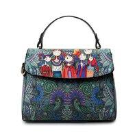 YQYDER 2017 projektant luksusowa marka PU skóra Bolsas Femininas kobiety torba damska zielony charakter torebka torby na ramię kobieta Tote w Torebki na ramię od Bagaże i torby na