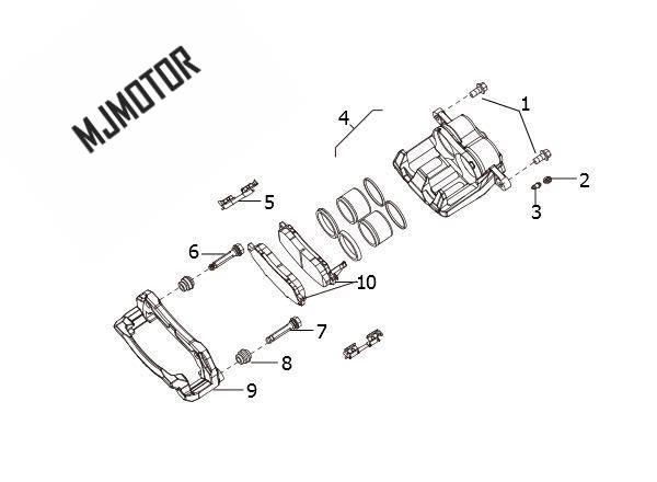 (1 paire/kit) plaquettes de frein avant/arrière pour chinois HAVAL H5 H6 SUV Auto voiture moteur pièces 3501115AKZ16B/3502315XKZ16A - 6