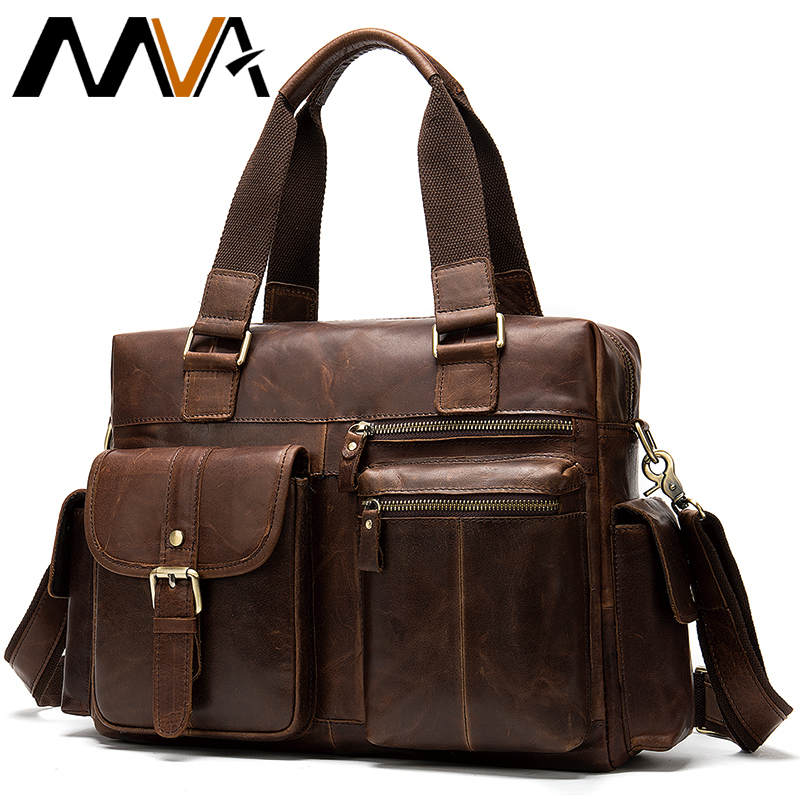 Mens Leather Bag Men's Briefcase Genuine Leather Laptop Bag Men Business Briefcase Laptop Men Computer Bags Male Briefcases 8537
