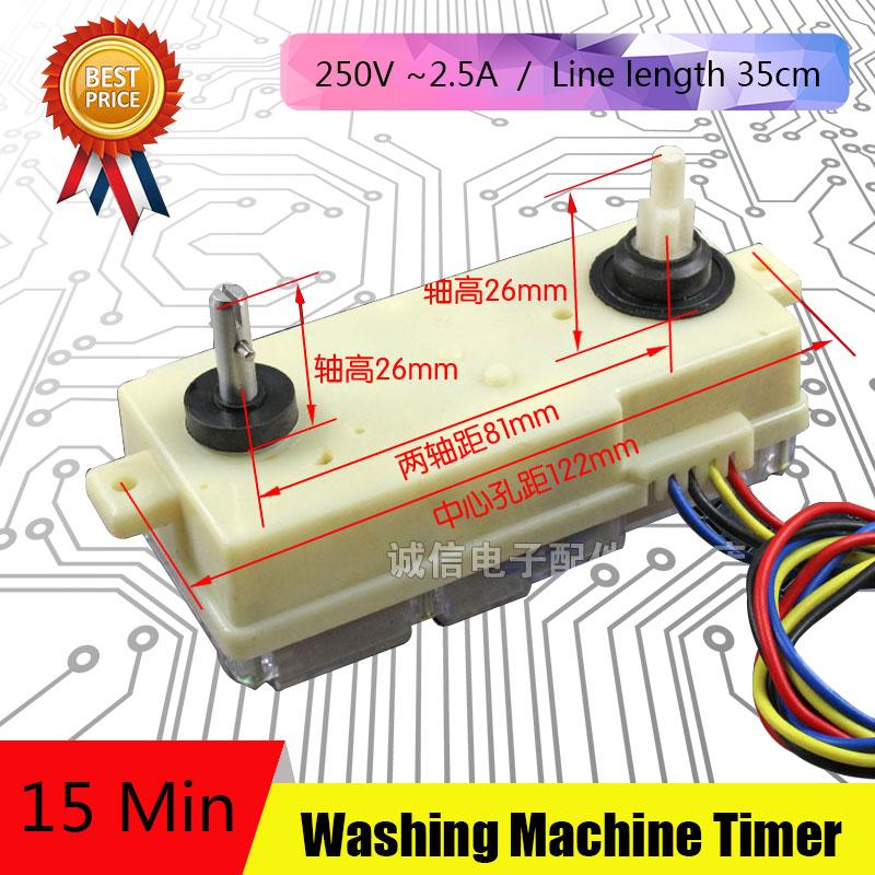 где купить 2Pcs 4 Line Washing Machine Parts New Timer Washing Machine Unused Spare Parts DSQXD-3605 по лучшей цене