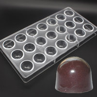 21Cavities Food Grade Bell Shaped Mould Bakeware Clear Polycarbonate Chocolate Mold DIY Chocolate PC Mold Chocolate