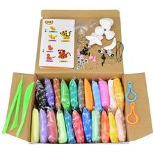 24 Цветов Резиновые Пластилина Глины Play Doh С Tool Kit Пространство Грязи детские Развивающие Игрушки Дети Magic Sand Резинка Playdough