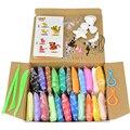 24 cores inteligente play doh com kit de ferramentas de argila plasticina espaço lama das crianças brinquedos educativos para crianças de areia mágica goma playdough