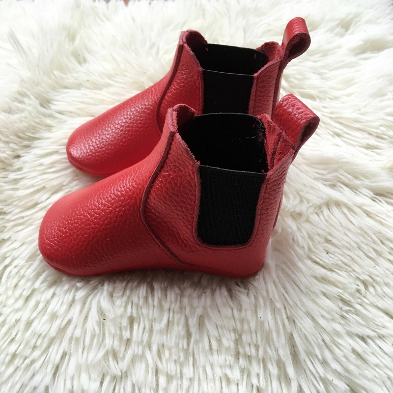 autumn winter fashion boots children Chelsea Boots for baby girls ankle boots boys genuine leather shoes
