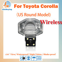 Беспроводной 1/4 Цвет ПЗС заднего вида Камера/парковка Беспроводной Камера для Toyota Corolla Ночное видение/170 градусов/Водонепроницаемый