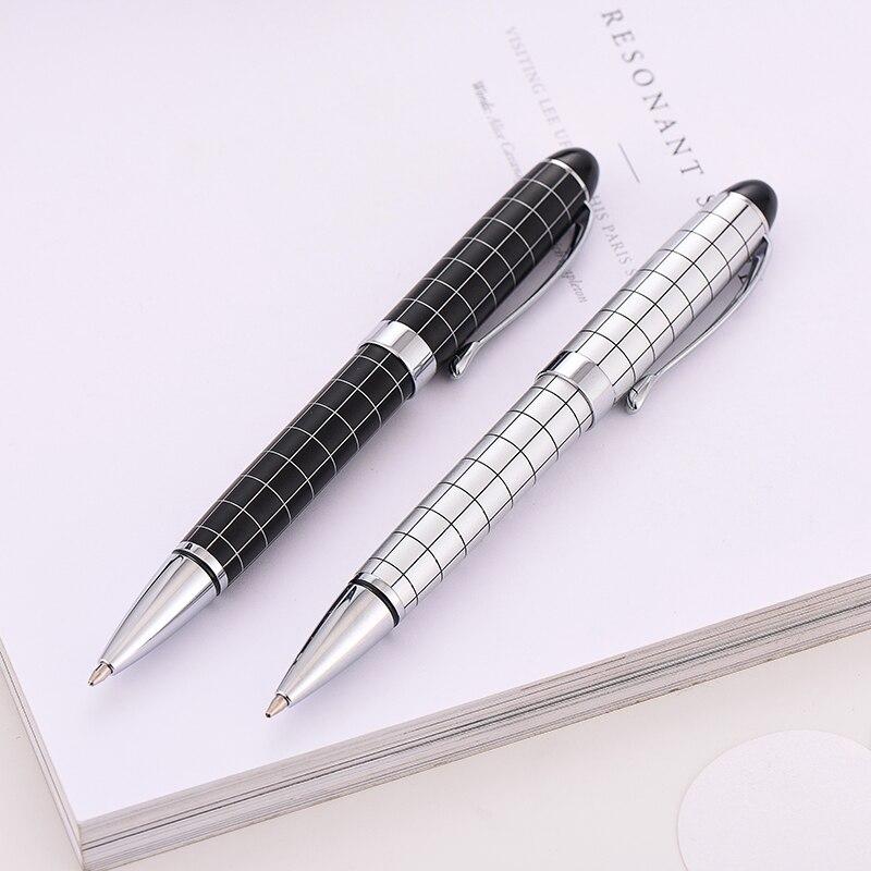 Baoer-415-Checke-Oil-Pen-0-5MM-Black-Pen-Ballpoint-Pen-High-Quality-Gift-Ball-Pen