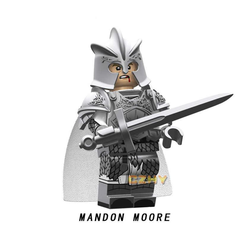 משחק של הכס כסף מצופה גרסה Mandon מור סטארק Lannister Selmy קרח ואש בניין בלוקים פעולה איור צעצועים KT1019