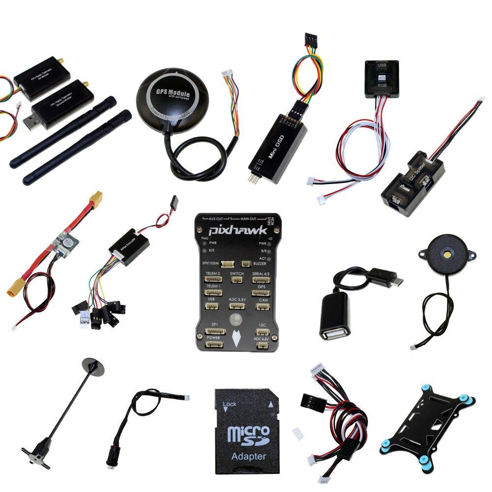 433Mhz 915Mhz Pixhawk PX4 PIX 2.4.8 flight controller + NEO-M8N GPS + OSD+Power module+3DR Radio Telemetry RC FPV SYSTEM