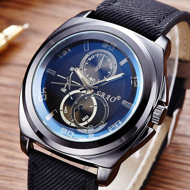 popular top sport watch brands buy cheap top sport watch brands sbao famous sport mens watches top brand luxury men s quartz watch clock leather strap male wristwatch relogio masculino