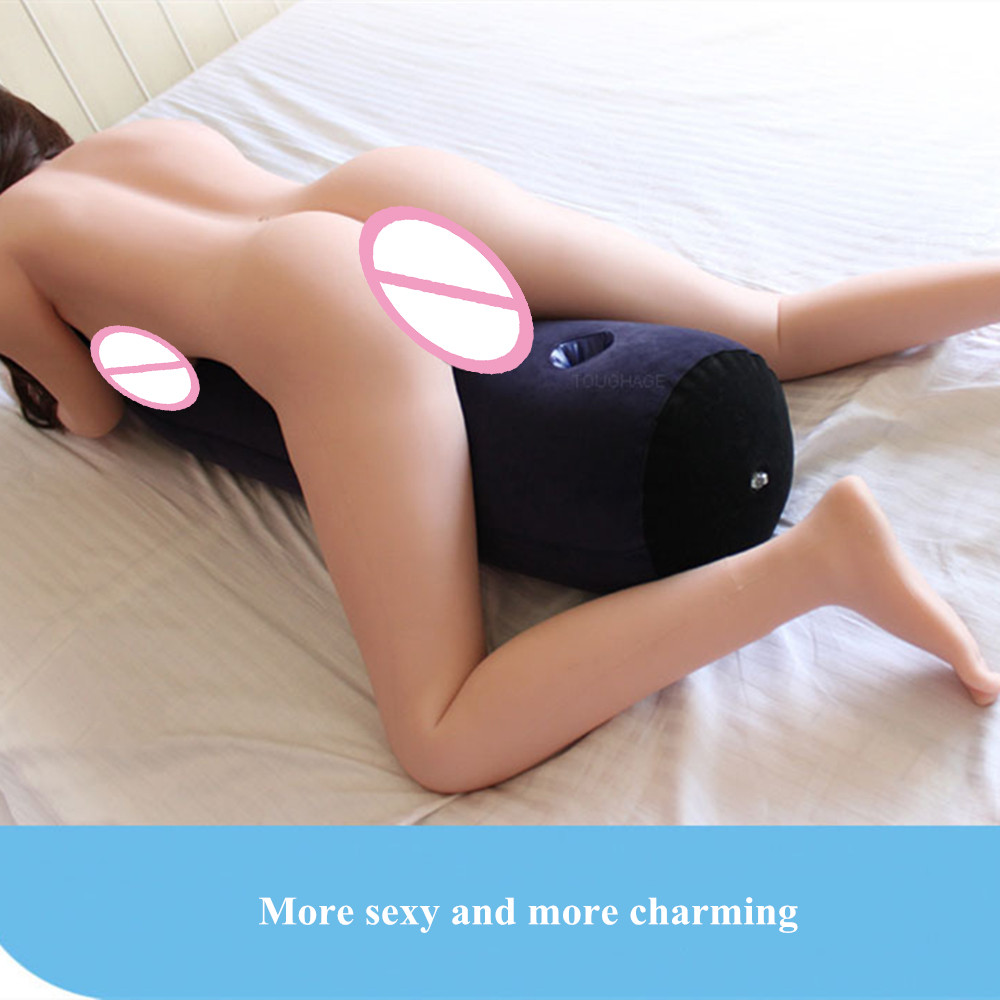 Inflatable <font><b>Sex</b></font> Pillow with Socket Erotic <font><b>Tool</b></font> Adult Games Bolster Position Air Cushion Sofa Furniture <font><b>Sex</b></font> Toys <font><b>for</b></font> Women <font><b>Couples</b></font> image