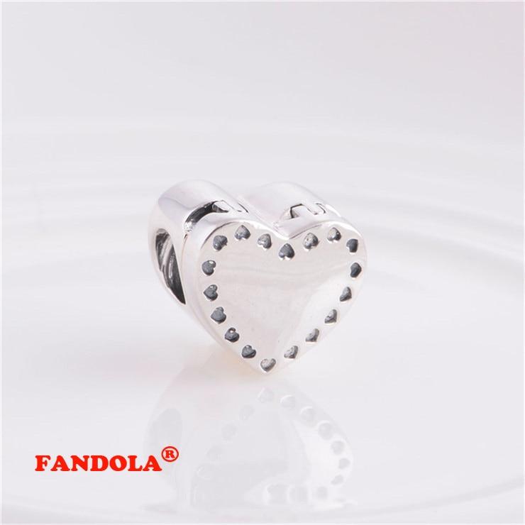 Pandora Charms Bilezikler için uygun Kalp Boncuk 14 K Altın Kaplama - Takı - Fotoğraf 5
