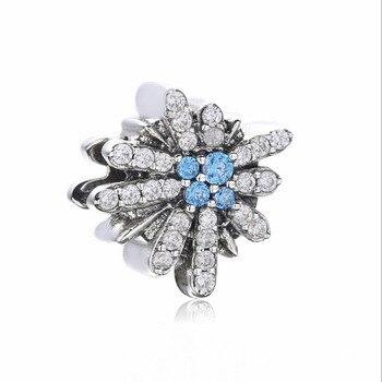 2018 Christmas Hot Sale Authentic 925 Sterling Silver Blue Starry sky Charm Fit Pandora Bracelet Charm DIY Jewelry