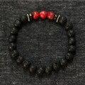 925 серебряные ювелирные изделия Mens браслеты император камень - лавы растянуть браслет лето браслеты хомбре прекрасные мужчины ювелирные изделия