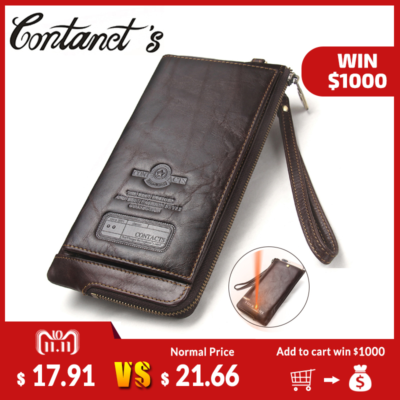 2018 Men Wallet Clutch Genuine Leather Brand Rfid Wallet Male Organizer Cell Phone Clutch Bag Long Coin Purse Free Engrave все цены