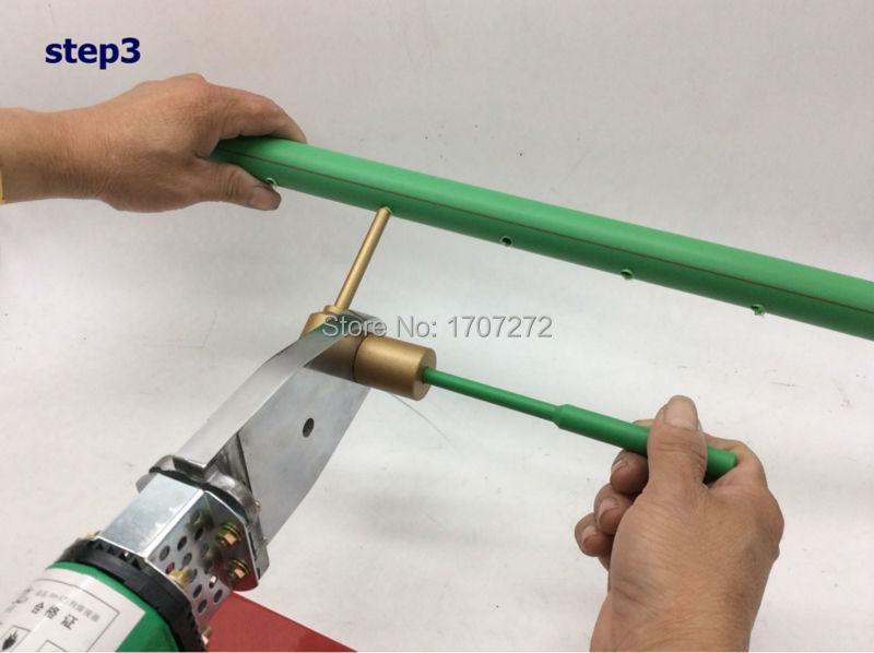 Frete grátis ppr ferramenta de reparo da tubulação de água, reparação de vazamentos e brechas 7mm peças de soldagem de tubos de plástico morrer cabeça, molde de soldagem