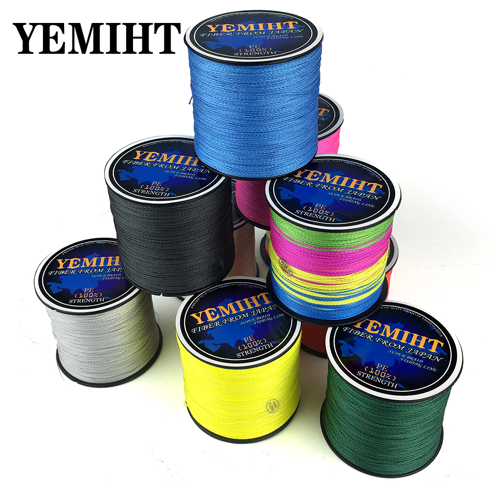 YEMIHT Carp Fishing Line 300M 500M 4 Strands 10-120LB PE Braided Fishing Line Multifilament Saltwater Fishing Line
