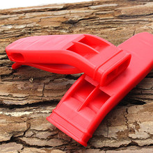Dual Band Outdoor Sports Survival Whistle Life Saving Emergency SOS With Buckle EDC Tool for Cheerleader Safety