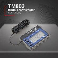 TM803 цифровой ЖК-дисплей термометр холодильник морозильник аквариум медицина коробка датчик температуры метр сигнализация термограф