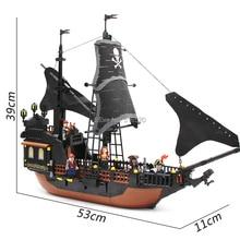 GUDI Jack Captain's Boat Black Pearl Building Block 652pcs Bricks Pirates of Caribbean Toys For Children Compatible Legoingly