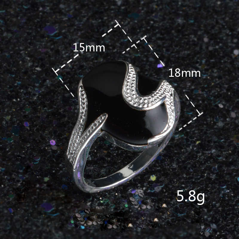 2019 Vintage Black Wedding Jewelry Peridot Rings for Women Biker 925 sterling silver Ring Anel Masculino Bagues Men Plata Anelli
