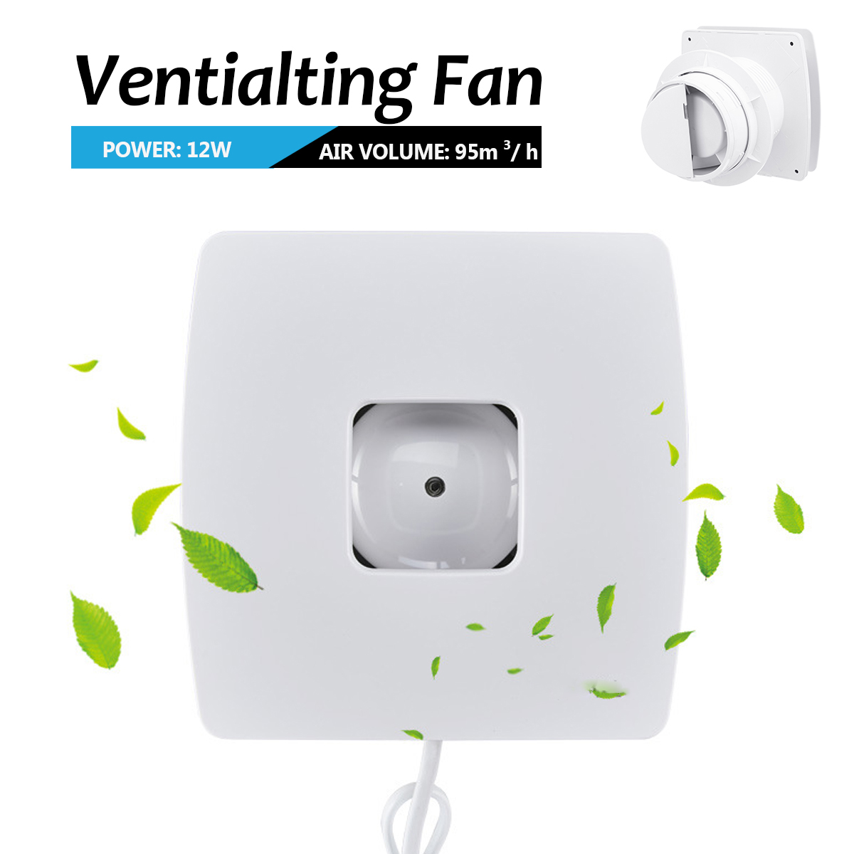 Quiet Plafond Ventilator 220V High Speed Ventilation Fan 4'' Air Blower Pipe Extractor Bathroom Kitchen Toilet Wall Exhaust Fan цена