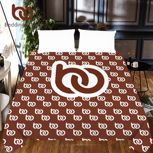 BeddingOutlet DIY Customized Bed Sheet 1-Piece Custom Made Photo Flat Sheet Microfiber Print on Demand Bedspreads Dropshipping