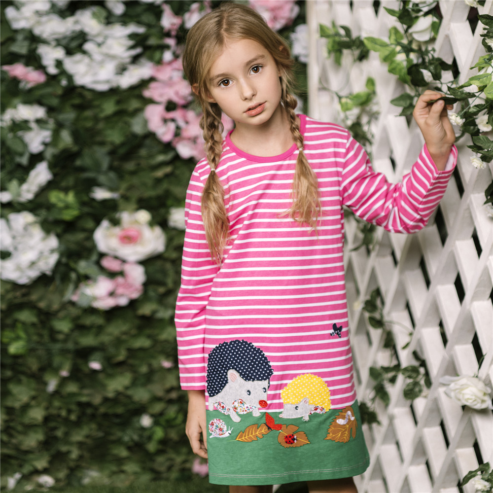 Unicorn Party Girls Dress with Animal Appliques Cotton Casual Tunic Dress 2018 Baby Girl Clothes Kids Dresses for Girls Vestidos платье для девочек party dresses for girls baby 2 11 casual girl dress
