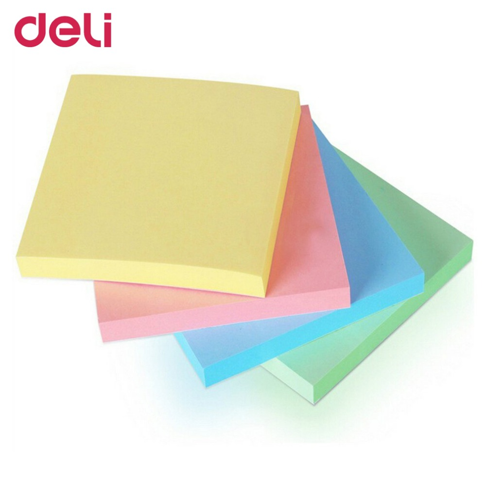 Deli 7151 Memo Papers Multicolor Post It Note Diary Stickers Self-adhesive Sticky Notepad Message Pad Notice Study Supplies infinite destiny in america photobook 50p memo note 100p 3 photo stickers release date 2013 10 18 korea kpop album