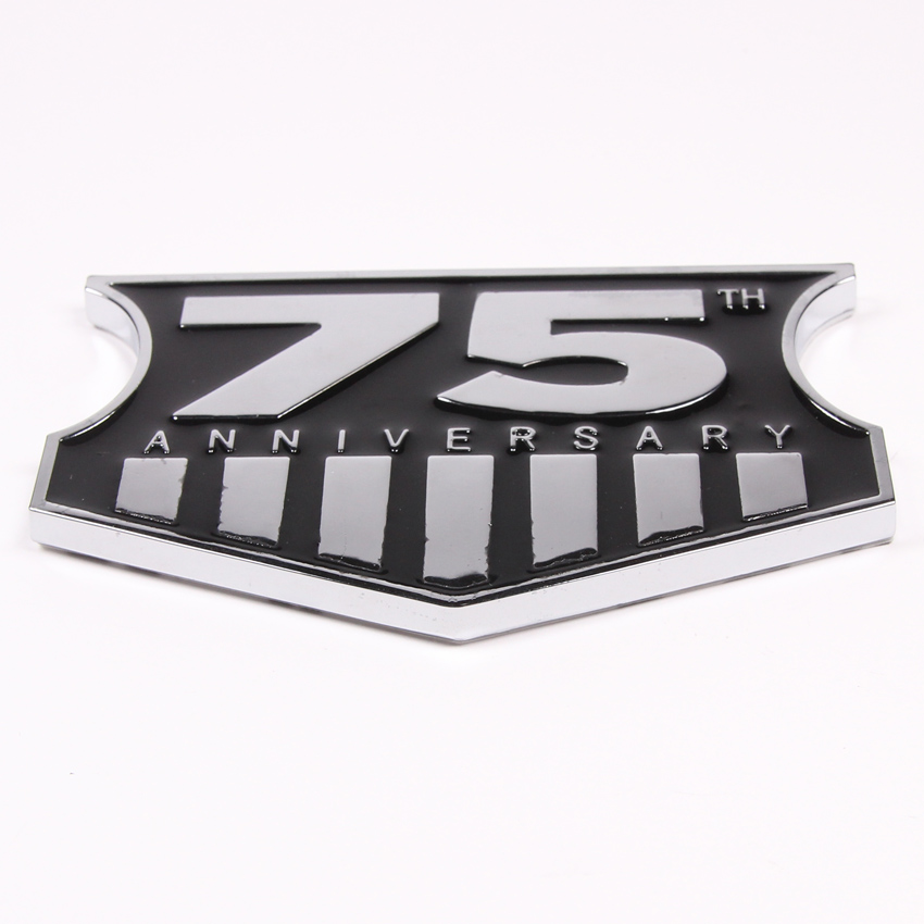 Metal 3D Car Decal Badge Sticker 75th Anniversary Emblem For Jeep Wrangler JK Grand Cherokee Commander Dodge очки корригирующие grand очки готовые 3 75 8866 c4