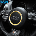 Fashion Car-Styling steering wheel Aluminum Alloy car stickers ring red gold blue Decoration steering whee Hubs For Audi a4 b6