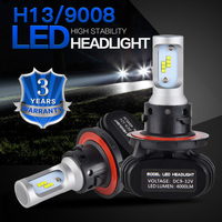 NICECNC S1 H13 9008 CSP DRL LED Đèn Pha Ô Tô Light Bulbs chiếu Fog ánh sáng Chiếu Hi/Low Chùm 50 Wát 6000 K 8000LM Ánh Sáng Kép
