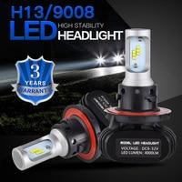 NICECNC S1 H13 9008 CSP DRL LED Headlight Car Light Bulbs Projector Fog Light Projector Hi
