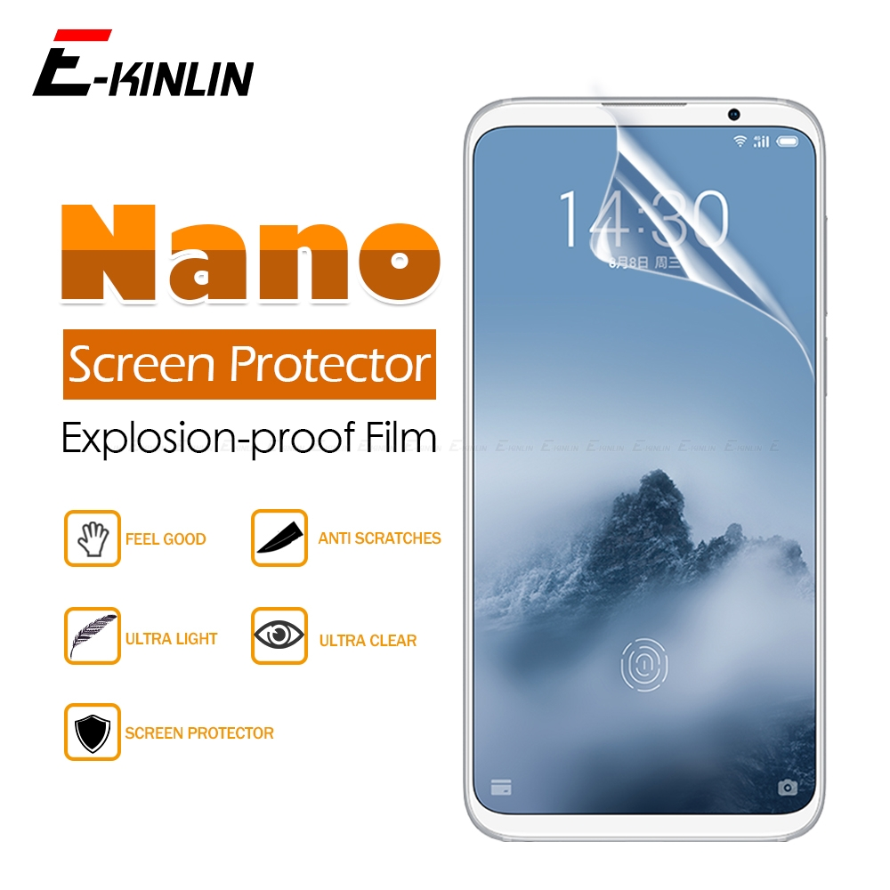 2pcs Soft Anti Explosion Nano Protective Film For <font><b>MeiZu</b></font> X8 M8 16Xs 16s <font><b>Pro</b></font> <font><b>16</b></font> X 16th 15 Lite Plus Clear Glossy Screen Protector image