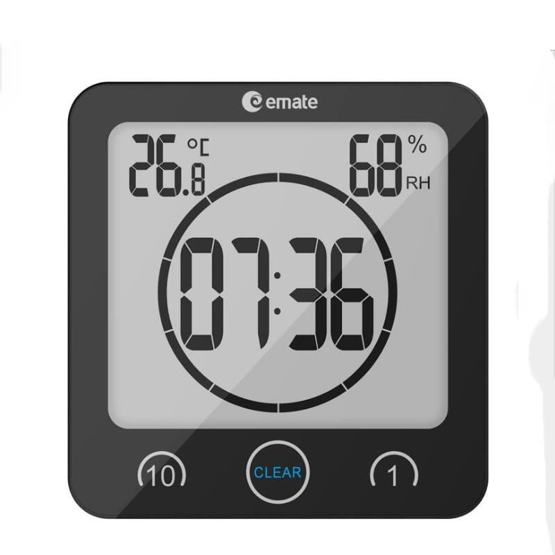 Aliexpress.com : Neue Ankunft Badezimmer Uhr Wasserdicht Temperatur  Luftfeuchtigkeit Innen Digitale Selbstklebende Wanduhr Von Verlässlichen  Bathroom Clock ...