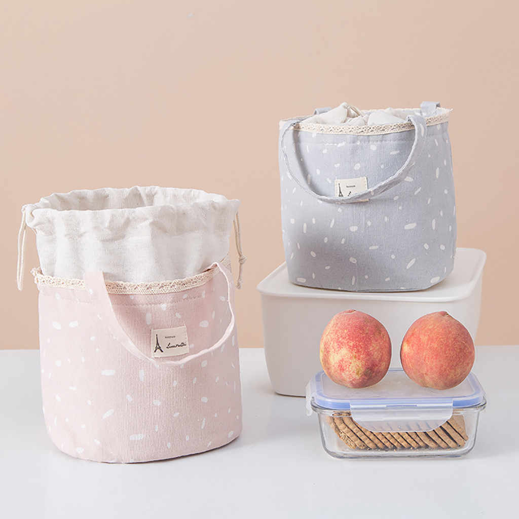 Lunch Bag Insulated Thermal Food Storage Bag Portable Travel Working Bento Box Portable Handbag Waterproof Lunch Box M40#