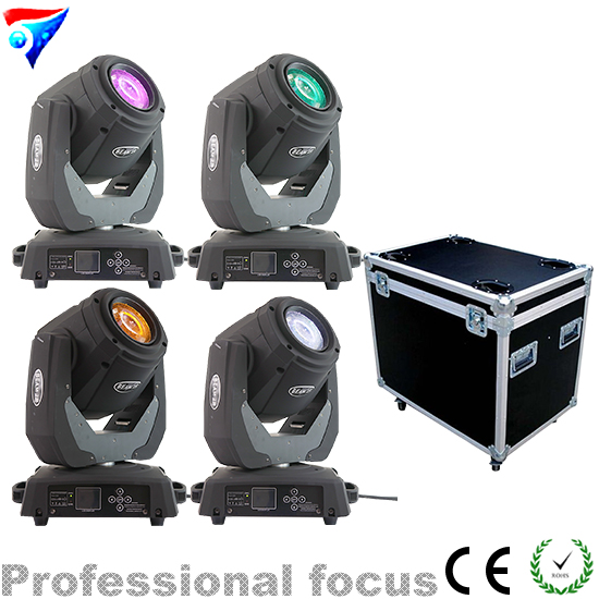Free Shipping 4pcs/Lot Flight Case Packing 120W Sharpy Beam 2r Moving Head Light Disco Lights for DJ Club Nightclub Party free shipping 6pcs lot 120w moving head light sharpy beam 2r led lights dj disco club party wedding stage effect