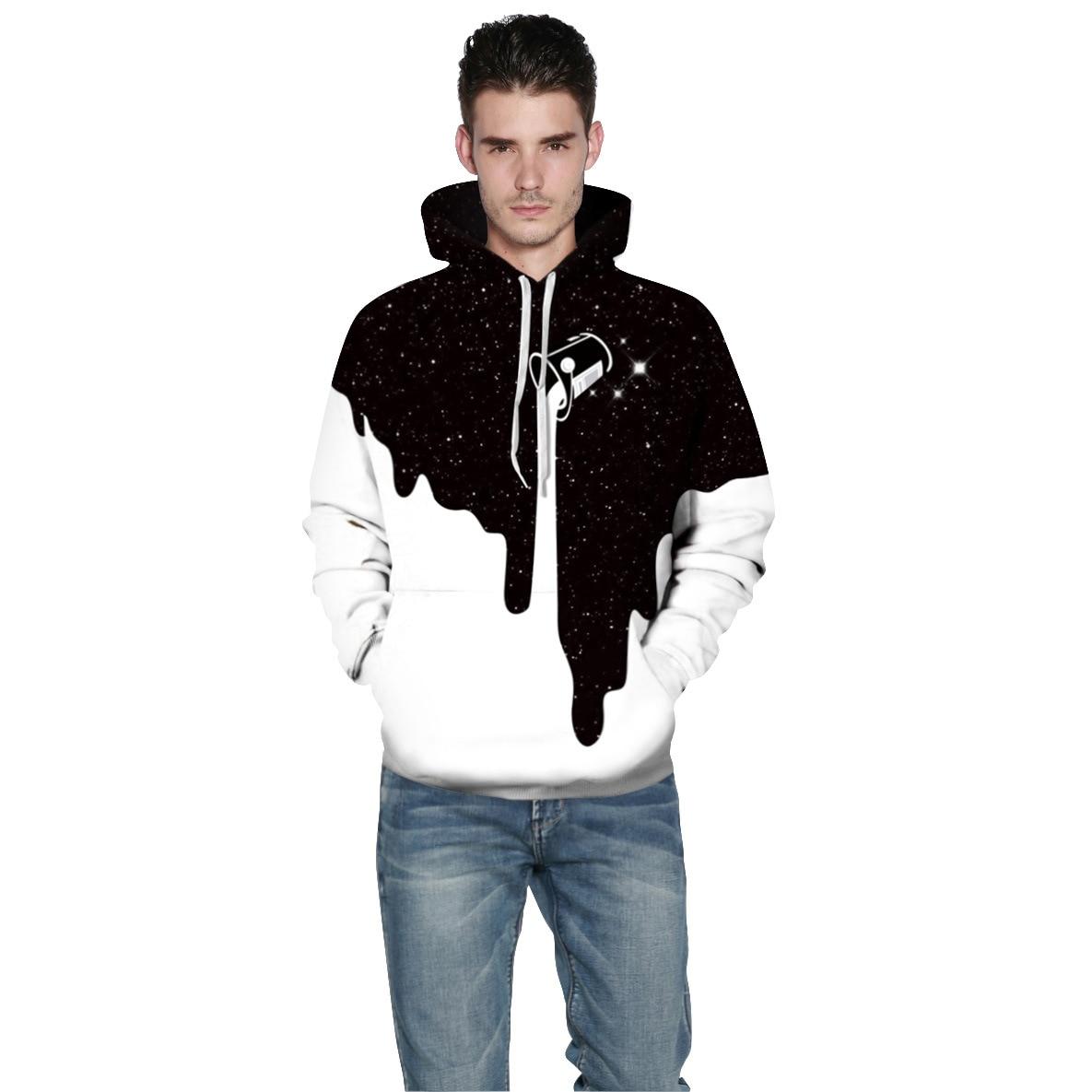 3D Sweatshirts Print Milk Space Galaxy Hooded Hoodies Unisex Tops Wholesale and retail Winter Loose Thin Hooded Hoody Tops